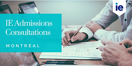 IE Admission Consultations - Montreal billets