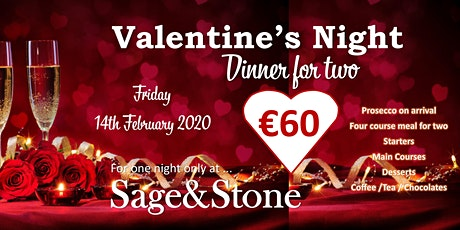 Sage&Stone Valentine's Dinner - Pop Up Restaurant tickets