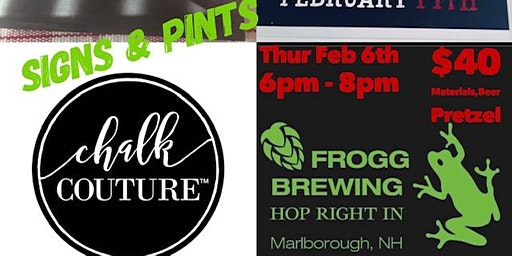 Signs & Pints @ Frogg Brewing