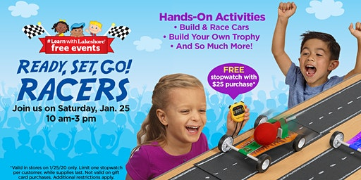 Lakeshore's Ready, Set, Go! Racers - Free In Store Event (San Bernardino)