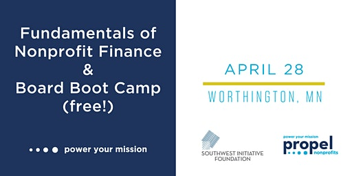Nonprofit Finance and Board Governance Trainings - April 28, 2020