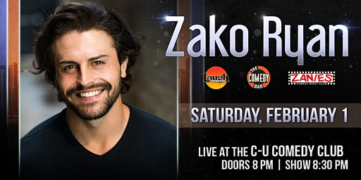 Comedian Zako Ryan (Laugh Factory, Zanies, Comedy Bar Chicago) in Champaign