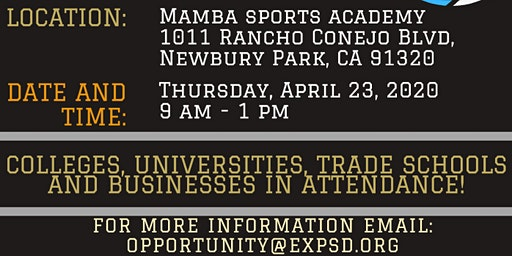 Opportunity Exposed and Mamba Sports Academy College and Career Fair