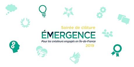 Soirée de clôture du Programme Émergence 2019 billets