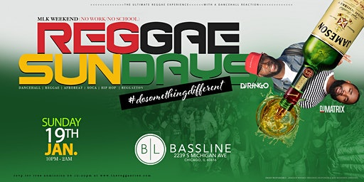 REGGAE SUNDAYS (#dosomethingdifferent)