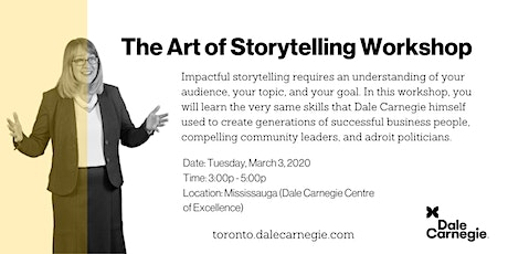 The Art of Storytelling Workshop - Mississauga tickets