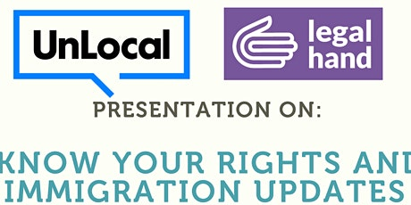 Immigration Know Your Rights - Legal Hand Tremont tickets