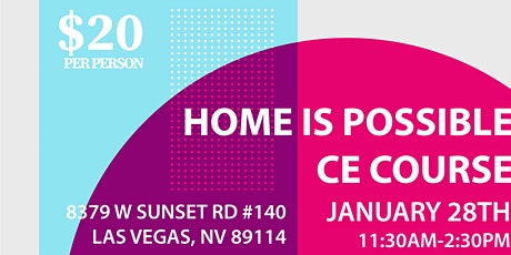 Home is Possible CE Course tickets