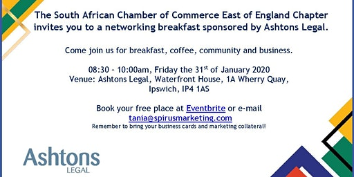 South African Chamber of Commerce - East of England Chapter January '20 Ipswich