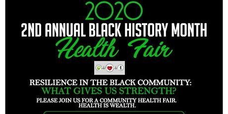 2nd Annual Black History Month Health Fair tickets