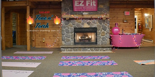 EZ Fit Home Workouts Tone n'Torch Full Body Resistance Training Class