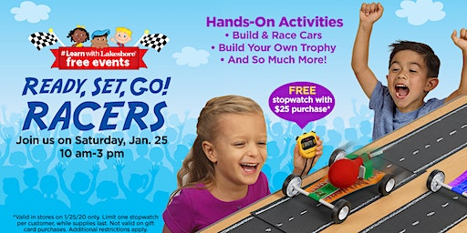 Lakeshore's Ready, Set, Go! Racers - Free In Store Event (Friendswood)