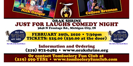 Tomfoolery Fun Club; Just for Laughs! tickets