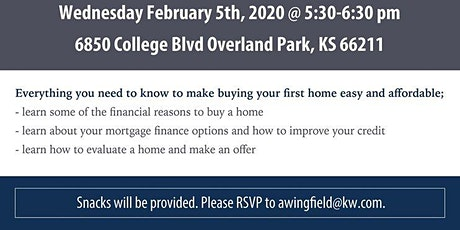 Home Buying Workshop  Date of event changed to Feb 5th 5.30-6.30 tickets