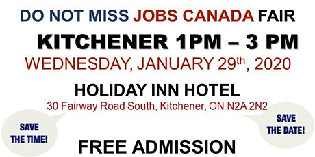 Kitchener Job Fair - January 29th, 2020 tickets
