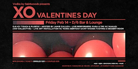 Vodka By SaintWoods presents XO Valentines Day tickets