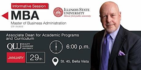 Reunión Informativa MBA - Illinois State University entradas