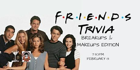 Friends Trivia - Feb 13, 7:30pm - Garbonzo's tickets