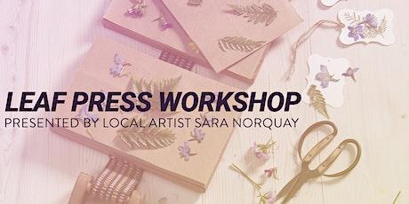 Leaf Press Workshop tickets