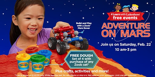 Lakeshore's Adventure on Mars - Free In Store Event (McAllen)