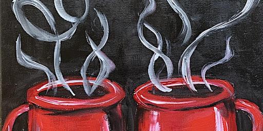 Valentine Coffee and Chocolates Painting