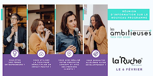 Réunion d'info : Les Ambitieuses Tech for Good, à La Ruche Saint Nazaire !