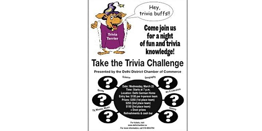 2020 Delhi & District Chamber of Commerce -Trivia Challenge Night