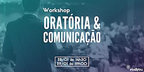 WORKSHOP GRATUITO DE COMUNICAÇÃO: COMO SE DESTACAR PROFISSIONALMENTE USANDO A ORATÓRIA ingressos