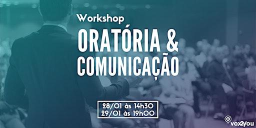 WORKSHOP GRATUITO DE COMUNICAÇÃO: COMO SE DESTACAR PROFISSIONALMENTE USANDO A ORATÓRIA