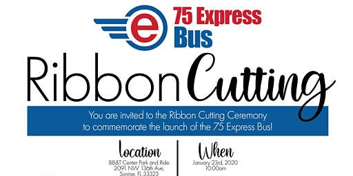 75 Express Bus Ribbon Cutting Ceremony