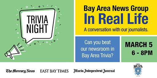 East Bay Times & Mercury News Trivia Night, an IRL event