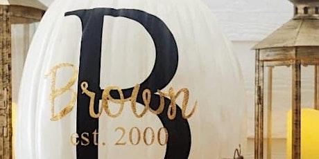 Crafter's Club - Personalized Porch Pumpkin Cricut Vinyl Cutting tickets
