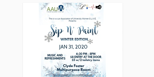 AAUW & L.I.V.E. Sip N' Paint: Winter Edition