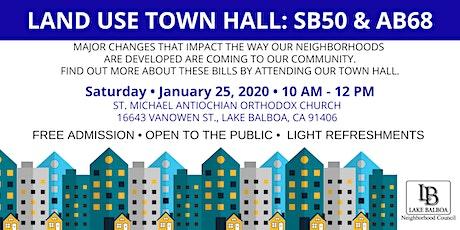 Land Use Town Hall: SB50 & AB68 tickets