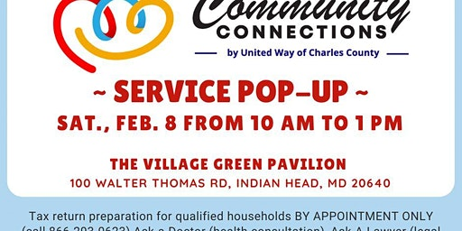 Feb. 8 Community Connections Service Pop-Up