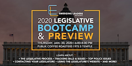 2020 Legislative Bootcamp & Preview tickets