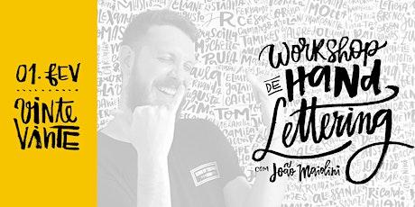 Workshop de Handlettering com João Maiolini ingressos