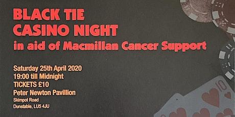 Black Tie Casino Night in aid of MacMillian tickets