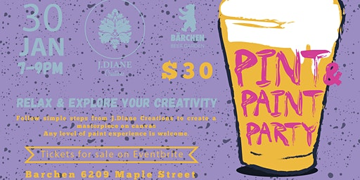 Pint & Paint Night at Barchen