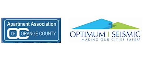AAOC And Optimum Seismic Offer Free Workshop November 17 On Earthquake Vulnerability & Retrofitting 101 tickets