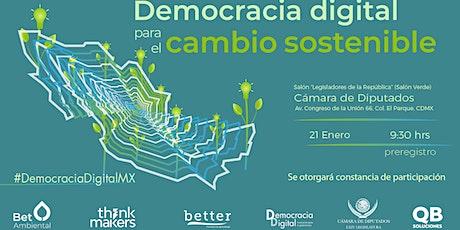 Democracia digital para el cambio sostenible boletos
