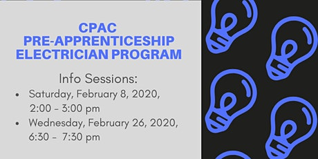 CPAC Pre-Apprenticeship Electrician Program Info Sessions tickets