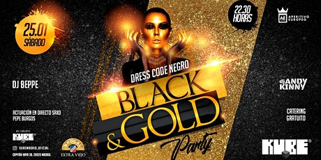 Black and Gold Party @KUBE con entrada  y catering gratuito entradas