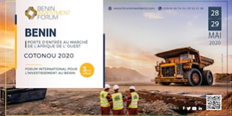 BENIN INVESTMENT FORUM 2020 billets