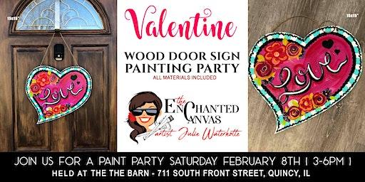 """Valentine Heart """"Love"""" Door Sign"""