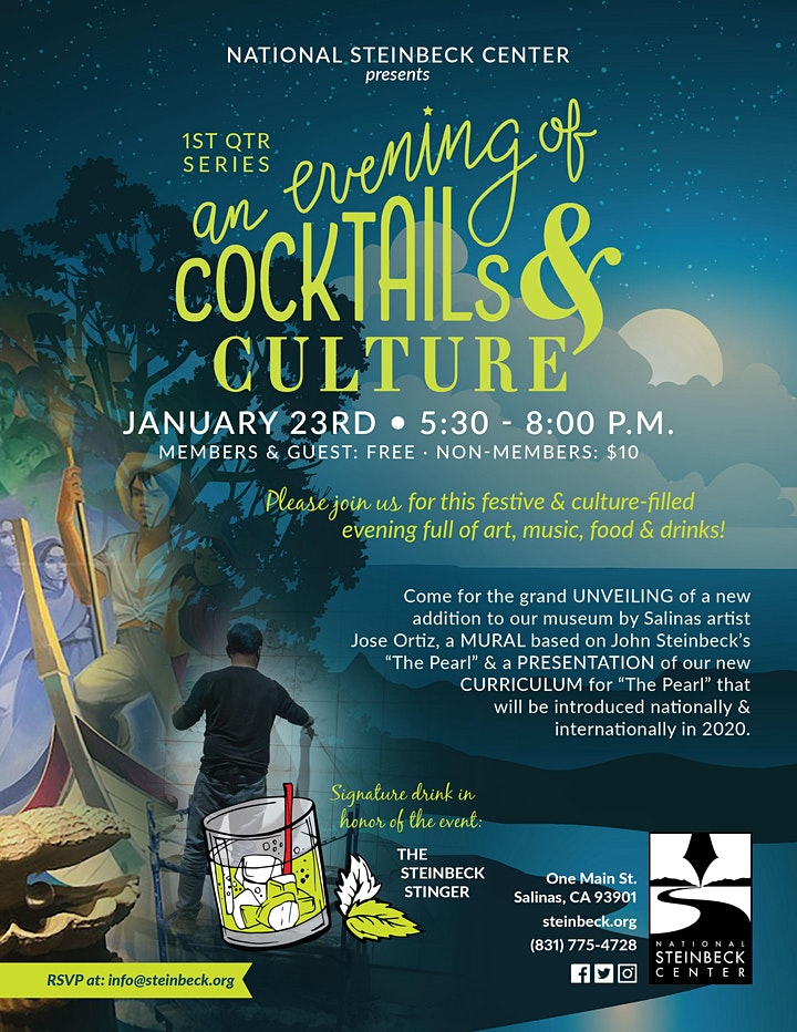 "Inaugural ""Cocktails and Culture"" Event at the National Steinbeck Center image"