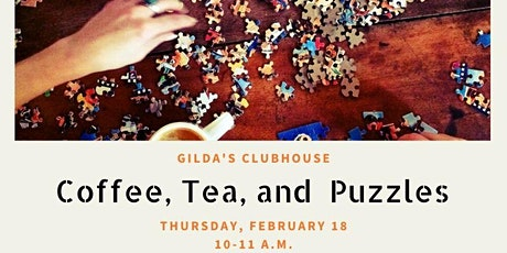 COFFEE, TEA, AND PUZZLES SOCIAL tickets