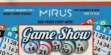 Game Show Bingo tickets