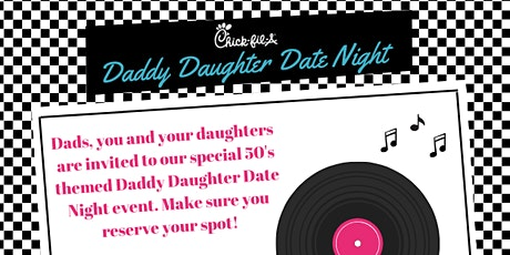Daddy Daughter Date Night 2020- 50's themed tickets