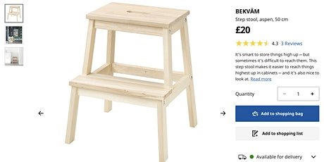 Ikea Hack, Kitchen Step/stool Furniture Painting tickets